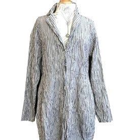 Cut Loose Shirt w/ Tucks- Crinkle Stripe