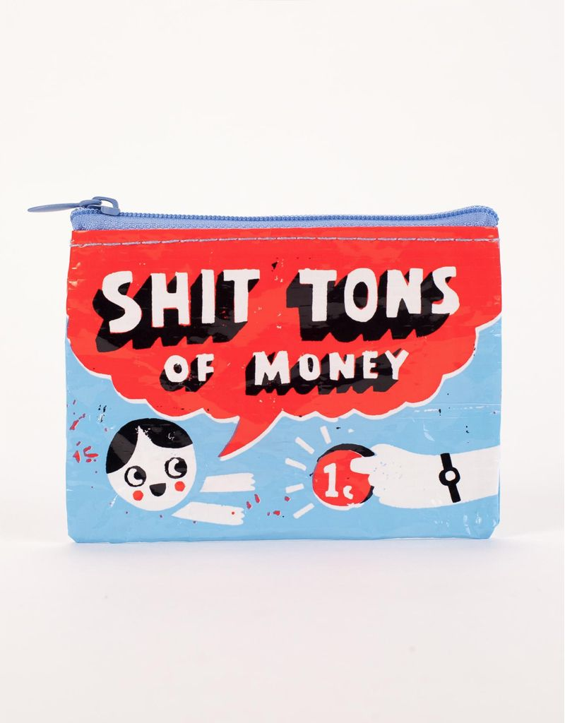 Blue Q Shit Tons of Money Coin Purse
