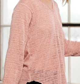 Nally & Millie Rounded Hem V-Neck Tunic