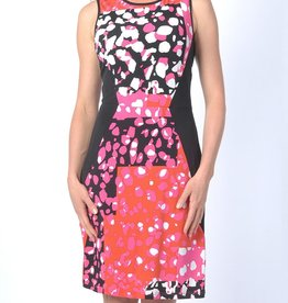 Papillon Blanc Gossip Pink/Orange S/L Dress