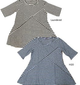 Cut Loose S/S Stripe Swing Top