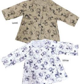 Cut Loose Floral Leoni Collarless Shirt