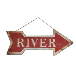 "Creative Co-op 23""L Metal Arrow Wall Decor ""River"""