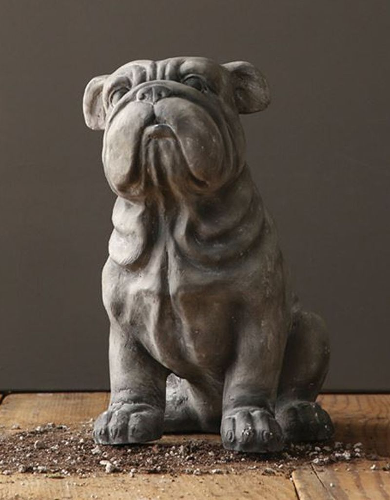 "Creative Co-op 14-1/2""H Magnesia Bulldog"