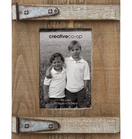 Creative Co-op Rustic Wood & Metal Photo Frame