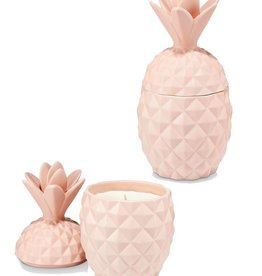 Illume Coconut Milk Mango Ceramic Pink Pineapple Candle