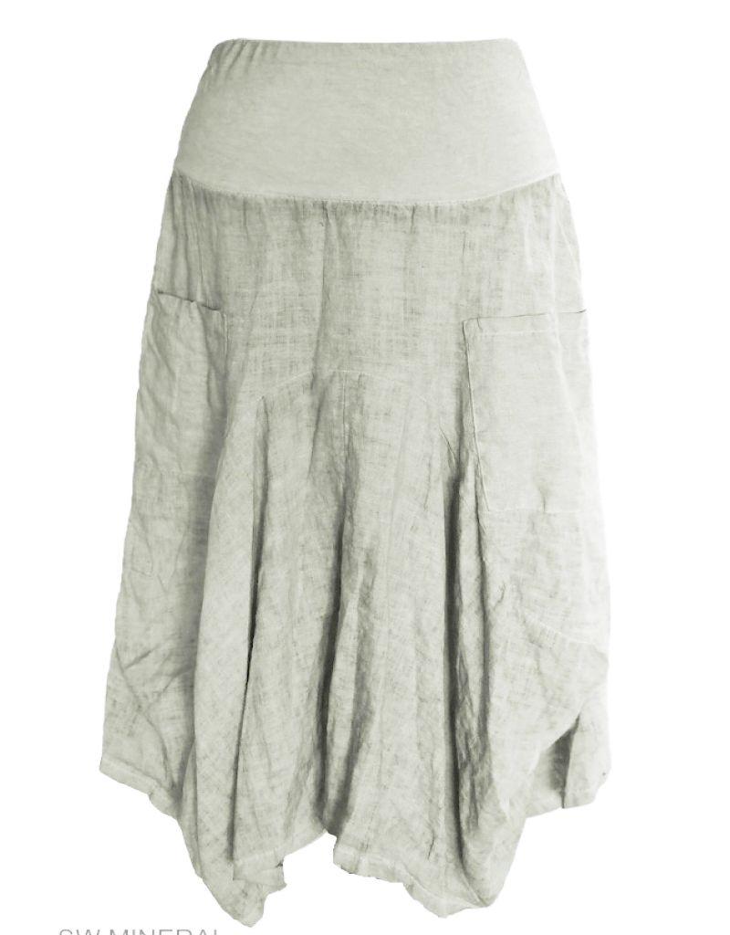 Porto Linen/Cotton Long 2 Pocket Skirt