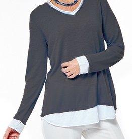 G9C Layered Linen Roll Neck Sweater