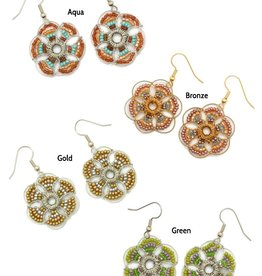Dunitz & Company Clover Flower Earrings
