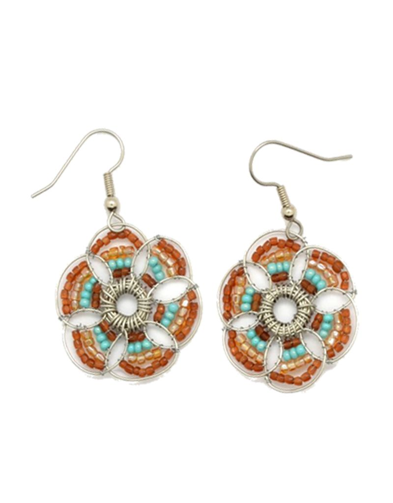 Dunitz Company Clover Flower Earrings