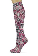 Sox Trot Paisley Heart Knee Highs