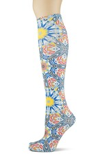 Sox Trot Spin Art Knee Highs