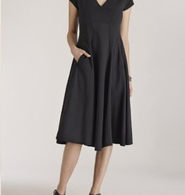 Luna Luz Cap Sleeve V Neck Dress