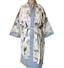 Handprint Bird Sand Kimono