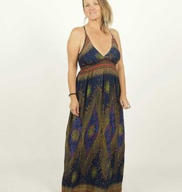 Zig Zag Third Eye Print Festival Maxi Dress