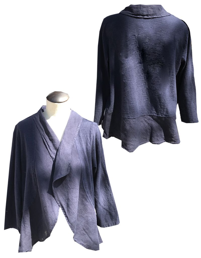 efe42fef7a0 Ruffle Jacket-Linen Combo - Maria Luisa Boutique