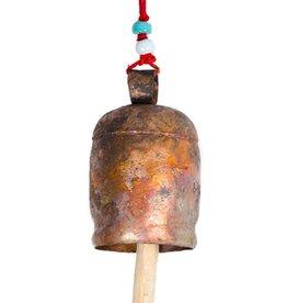 """Matr Boomie Copper Handmade Bell 7.5""""h"""