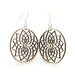 Green Tree Jewelry Dreamcatcher Wooden Earrings