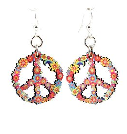 Green Tree Jewelry Peace Blossom Earrings