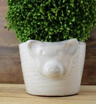 Creative Co-op Pig Bowl Small TerraCotta