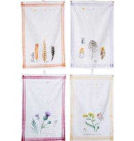 "Creative Co-op Cotton Printed Tea Towel (28""L x 18""W)"