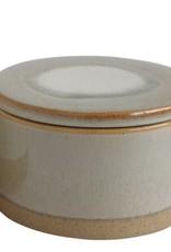 Creative Co-op Stoneware Reactive Glaze Canister, Sage