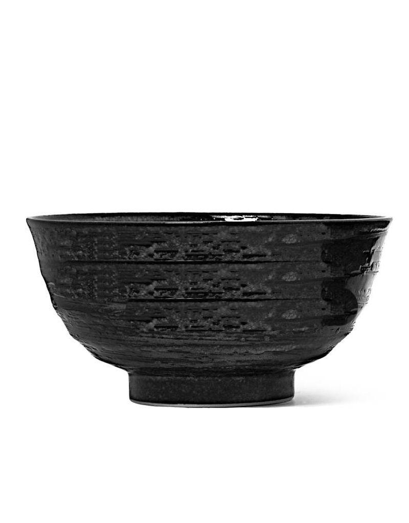 "Miya Company Black Noodle Bowl 6.25"" x 3.25""h"