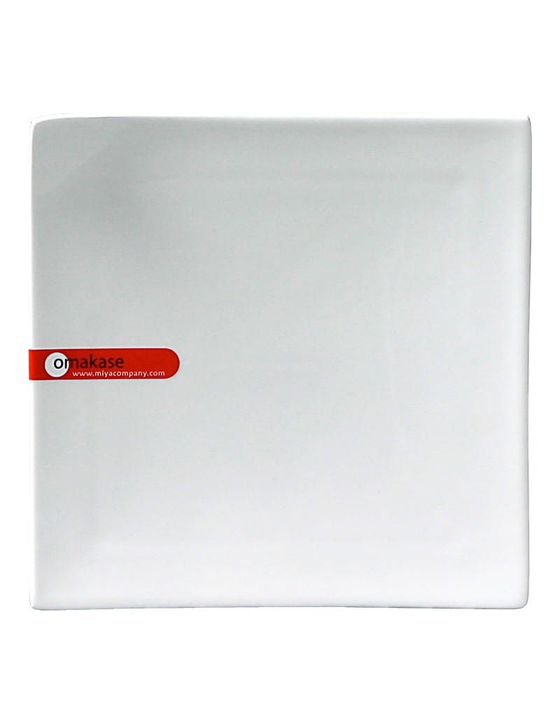 "Miya Company Corner-Tipped 6.25"" Square Plate - White"