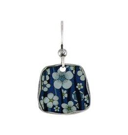Earth Dreams Blue & White Flower Earrings