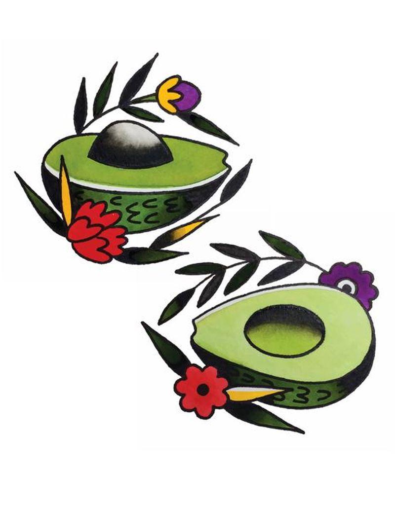Tattly Avocado Tattoo Set