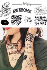 Tattly Inspirational Tattoo Set