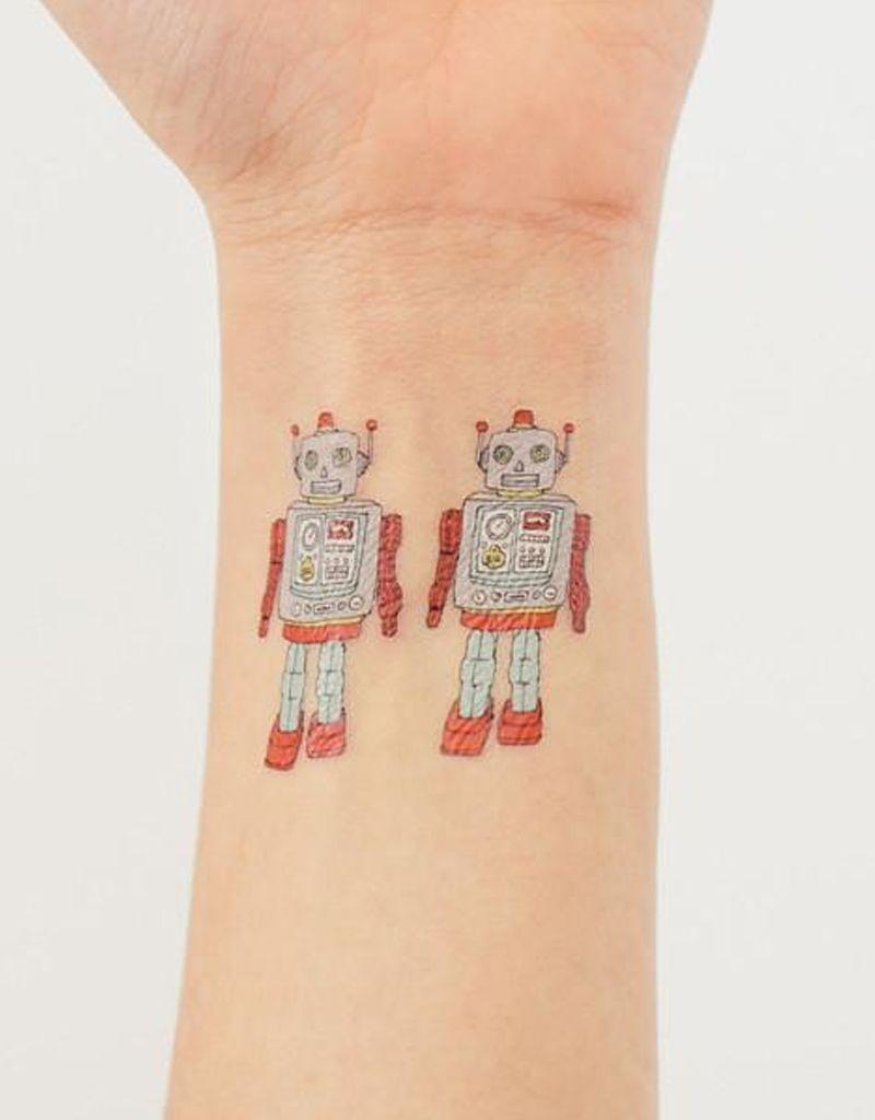 Tattly Robot Tattoo