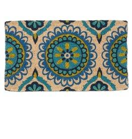 Abbott Blue/Green Tile Doormat 18x30