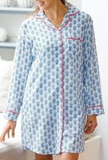 rockflowerpaper Samos Blue Sleep Shirt