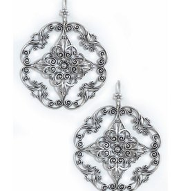 Clara Beau Large Silver Flower Earring