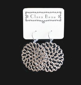 Clara Beau Large Silver Circle Earring