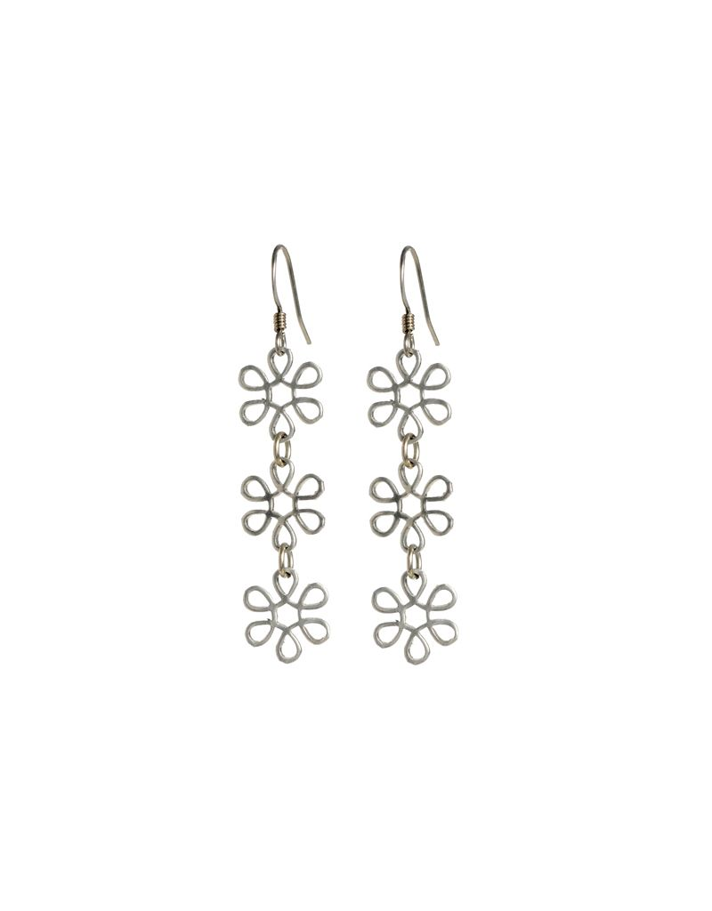 Jill Fagin Triple Tiny Flower Earring