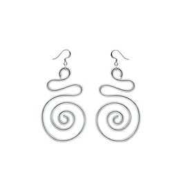 Jill Fagin S-shape Big Spiral Earrings