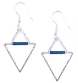 Mata Traders Silver Threaded Angles Earrings