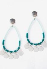 Mata Traders Blue Threaded Charm Earrings