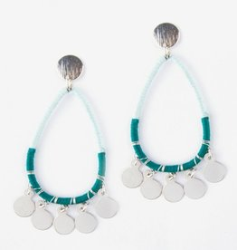Mata Traders Blue Threaded Charm Earrings