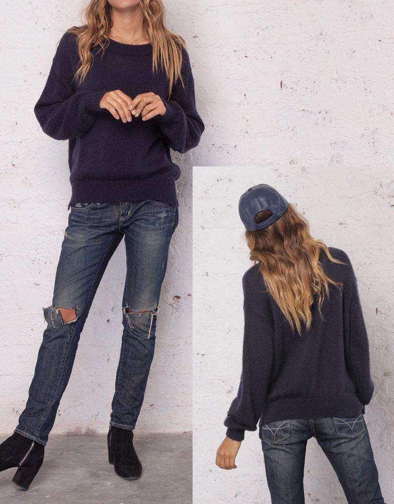 Heidi Side Zip T Neck Sweater Maria Luisa Boutique Hoodie Jumper Cotton Ml Wooden Ships