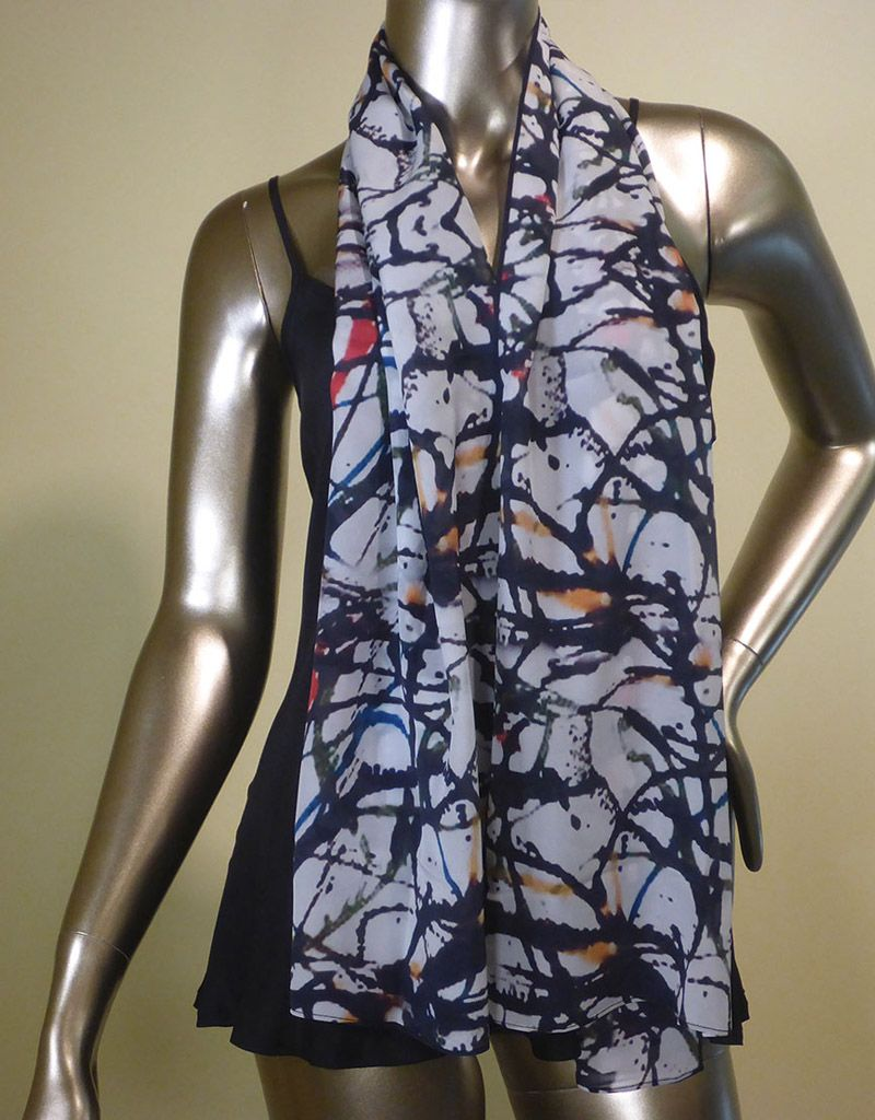 Cocoon House Kinetic Silk Scarf