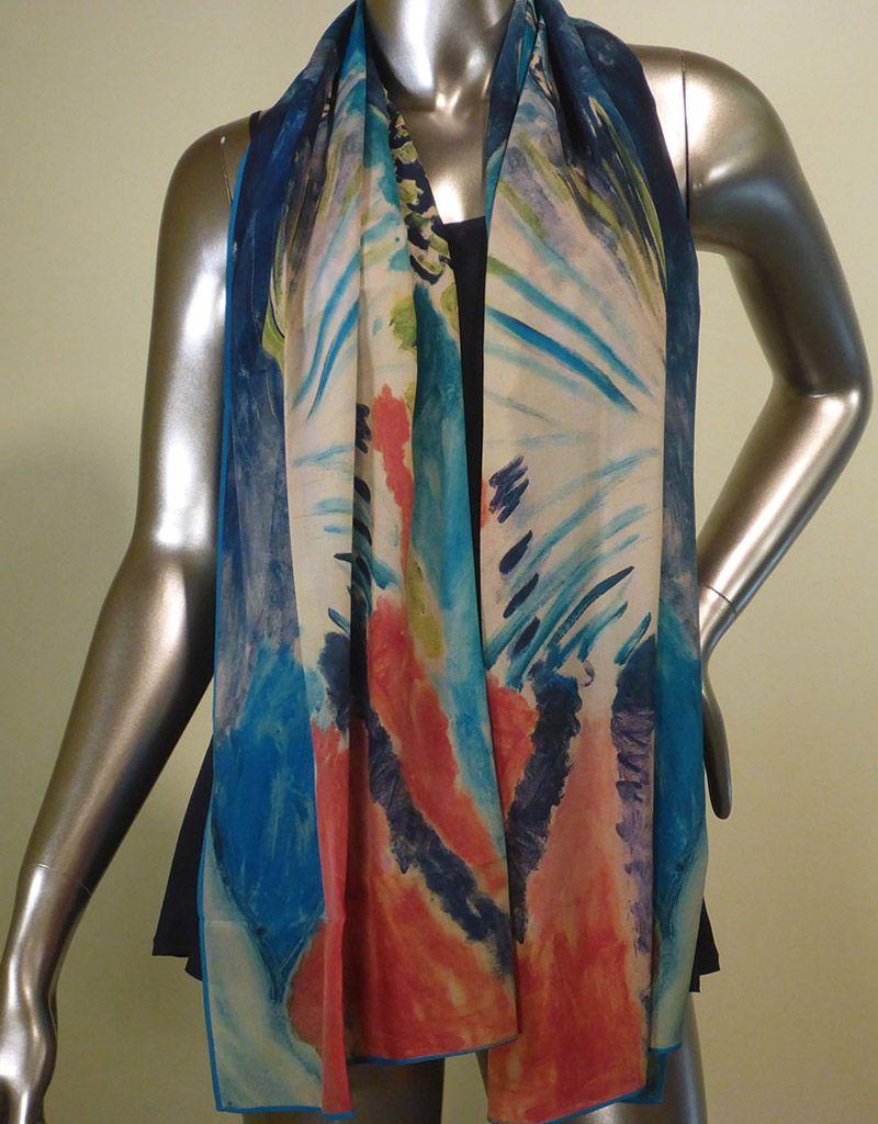 Cocoon House Matisse Tropical Fan Silk Scarf