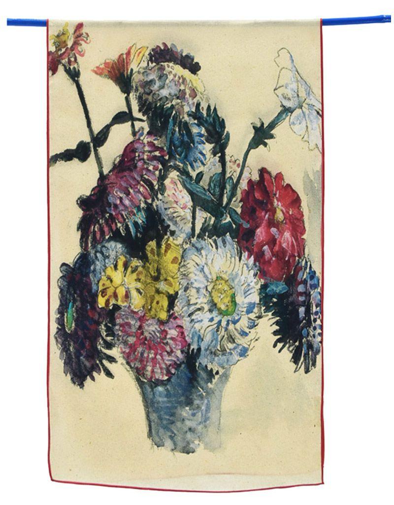 Delacroix Flowers Silk Scarf Maria Luisa Boutique