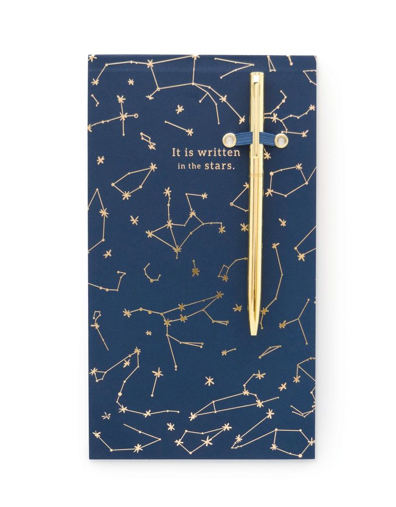designworks Chunky Pad With Pen Navy Constellations