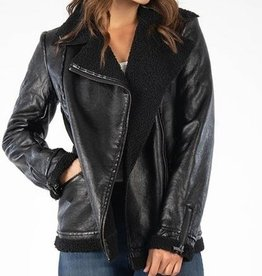 Kut from the Kloth Orla Vegan Leather Moto Jacket