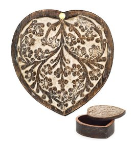 Matr Boomie Antique Finish Pivot Box-Heart