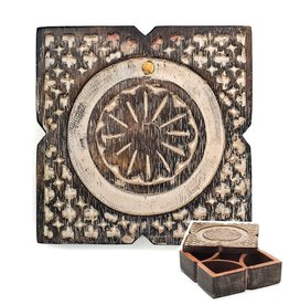 Matr Boomie Antique Finish Pivot Box - Square