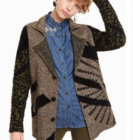 Desigual Hidden Knit Blazer Coat